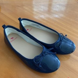Navy Patent Leather Ballet Flats - Size 13